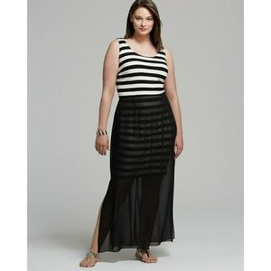 Vince Camuto Dresses - New! Vince Camuto Striped Plus Size Maxi Dress NWT